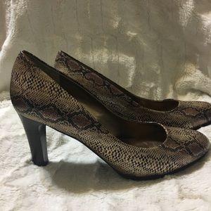 """Anne Klein Python Print Heels """"Clemence"""""""